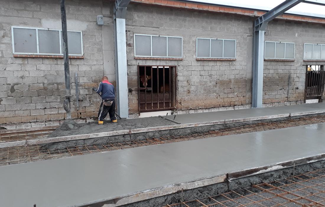 particolare lavorazione edilizia zootecnica